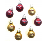 Albi Christmas ball gold Martin 2 cm
