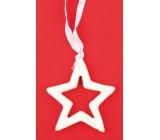 Ceramic star for hanging 7 cm