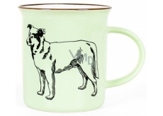 Albi Ceramic can Dog green 320 ml