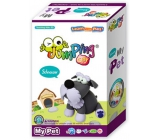 Jumping Clay Dog - Schnauzer self-drying modeling compound 38 g + paper model 5+