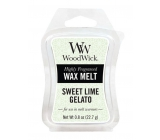 WoodWick Sweet Lime Gelato - Sladká zmrzlina vonný vosk do aromalampy 22.7 g
