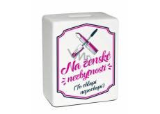 Albi Ceramic brick moneybox Female necessities 11.8 x 10 x 5 cm