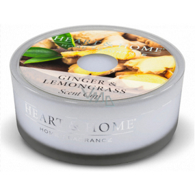 Heart & Home Ginger and Lemongrass Soy scented candle in a bowl burns for up to 12 hours 38 g