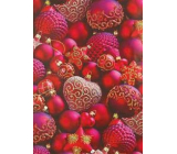 Ditipo Gift wrapping paper 70 x 200 cm Christmas red red flask