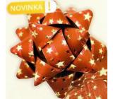 Nekupto Starfish medium luxury red with gold stars HV