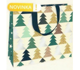 Nekupto Gift paper bag luxury 30 x 23 cm Christmas Trees WLFL