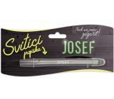 Nekupto Glowing pen with the name Josef, touch tool controller 15 cm