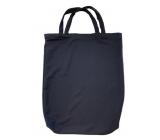 Shopping bag black with tube 42 x 33 x 5.5 cm 9937