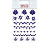 Ovo Straw blue decals 12 motifs 1 sheet