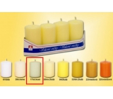 Lima Candle smooth ivory cylinder 40 x 70 mm 4 pieces