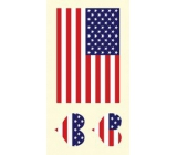 Arch Tattoo Decals for Face and Body USA, American Flag 3 motif