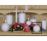 Lima Alfa Frosty effect candle white ball 80 mm 1 piece