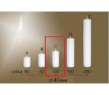 Lima Gastro smooth candle white cylinder 40 x 100 mm 1 piece