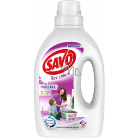 Savo Color chlorine-free washing gel for colored laundry 20 doses 1 l