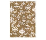 Ditipo Gift wrapping paper 70 x 500 cm Christmas golden white Christmas decorations