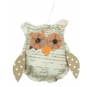 Small owl 8 cm for hanging green