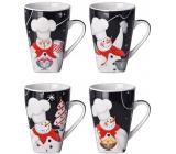 Christmas ceramic mug design mix Snowmen 400 ml in a box