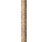 Zöwie Gift wrapping paper 70 x 150 cm Christmas Scandi Style natural with black stars