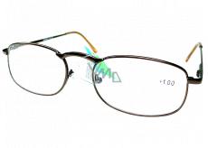 Berkeley Reading glasses +1 brown metal 1 piece MC2005