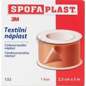 3M Spofaplast 132 spool textile patch 2.5 cm x 5 m