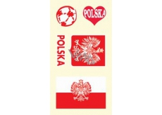 Arch Tattoo decals for face and body Poland flag 1 motif