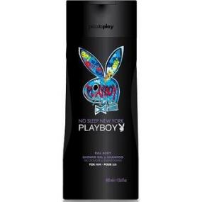 Playboy No Sleep New York 2v1 shower gel and shampoo for men 250ml