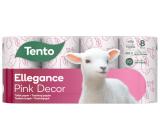 This Ellegance Pink Decor toilet paper 3 ply 150 pieces 8 pieces