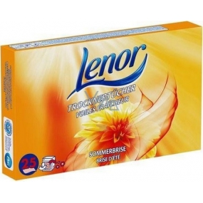 Lenor Sommerbrise napkins for clothes dryer 25 pieces