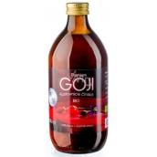 Allnature Bio Premium Goji kustovnice čínská 100% šťáva z plodů působí na činnost jater a ledvin 500 ml