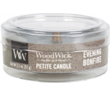 WoodWick Evening Bonfire Scented Candle with Wood Wick Petite 31 g