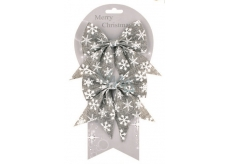 Jute bow gray with various motifs 13 cm, 2 pieces