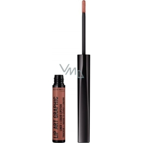 Rimmel London Lip Art Graphic Contour Pencil + Liquid Lipstick 2in1 720 Lacey 1.8 ml