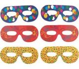 Spectacle masks color print 6 pieces