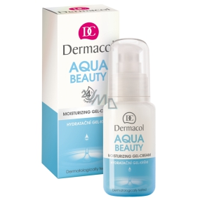 Dermacol Aqua Beauty moisturizing gel-cream for day and night care 50 ml