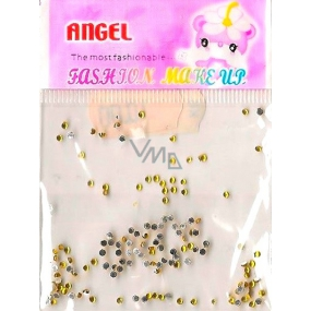 Angel Nail decorations rhinestones gold 1 pack
