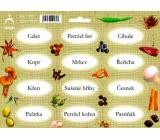 Arch Samolepky na kořenky Juta barvotisk Celer - sušené nati (kořenová zelenina, hříbky,...) 0518