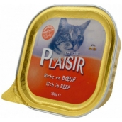 Plaisir Cat Beef tray 100 g