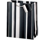 BSB Luxury gift paper bag 36 x 26 x 14 cm Black and white stripes LDT 253-A4