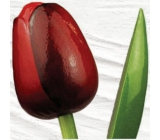 Wooden tulip 34 cm dark red