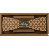Bohemia Gifts & Cosmetics Wooden bow tie Diamonds 12.5 cm