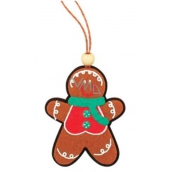 Gingerbread, colorful, hanging 9cm stick