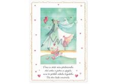 Albi Envelope Playing Cards Newlyweds Kissing Fear, Seidlová Something happened to us 14.8 x 21 cm