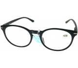 Berkeley Reading glasses +2.5 plastic black, round glass 1 piece MC2171