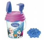 Mondo Frozen Sand bucket set with strainer, rake, shovel and muffin