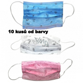 3-layer protective medical non-woven disposable, low respiratory resistance for children 10 pieces