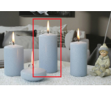Lima Ice pastel candle light blue cylinder 60 x 120 mm 1 piece