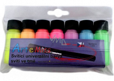 Art e Miss Set of universal colors glowing in the dark 7 x 12 g