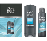 Dove Men + Care Clean Comfort shower gel 250 ml + antiperspirant deodorant spray 75 ml, cosmetic set for men