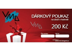 VMD Drogerie gift voucher for the purchase of goods worth CZK 200
