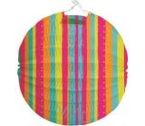Lantern Round striped 21 cm 1 piece 9077